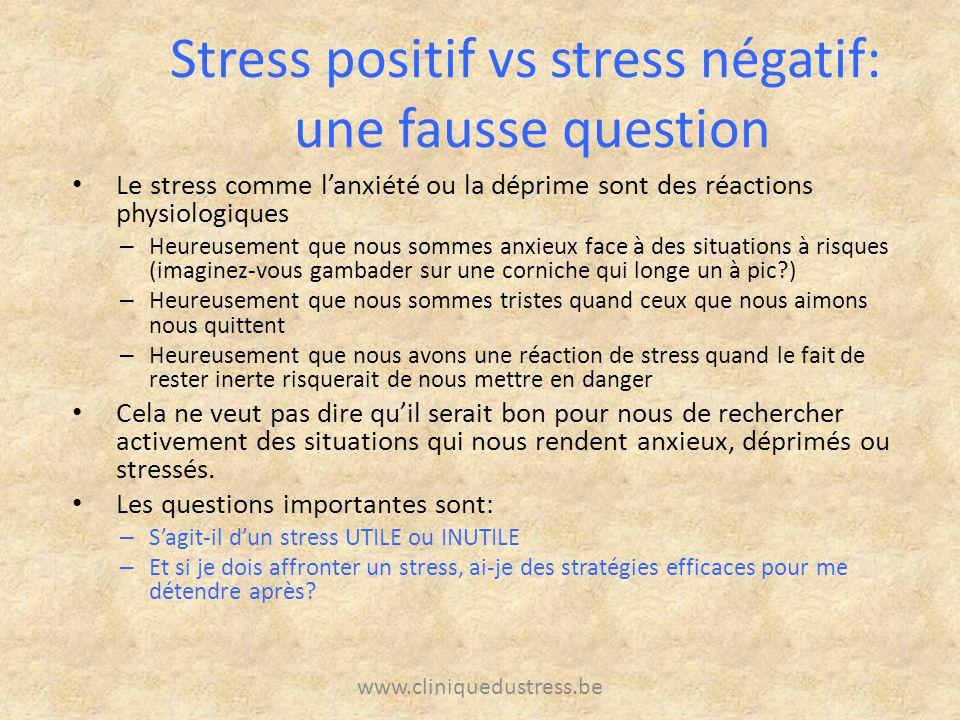 Stress positif vs stress négatif: