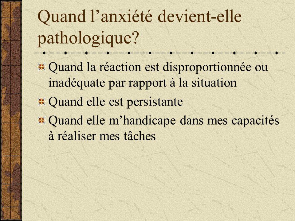 Quand l'anxiété devient-elle pathologique