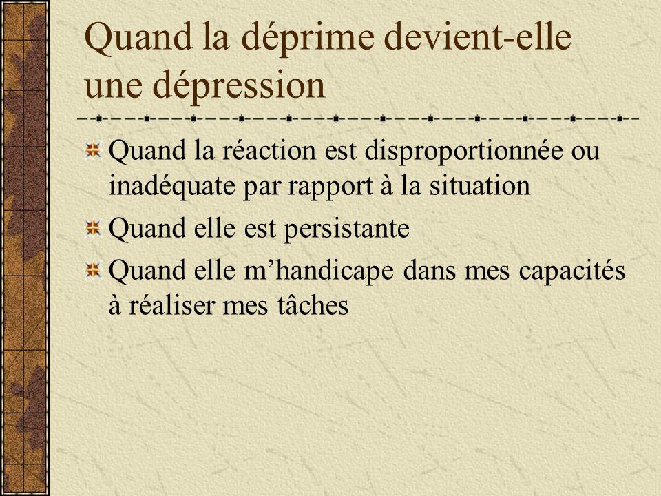 Quand la déprime devient-elle une dépression