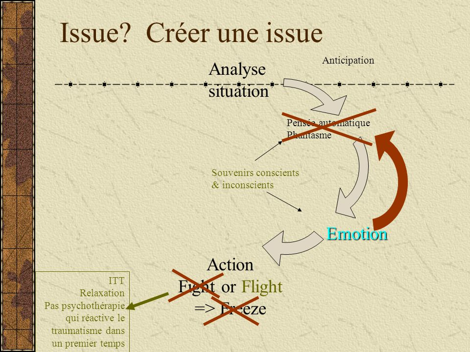 Issue Créer une issue Analyse situation Emotion Action