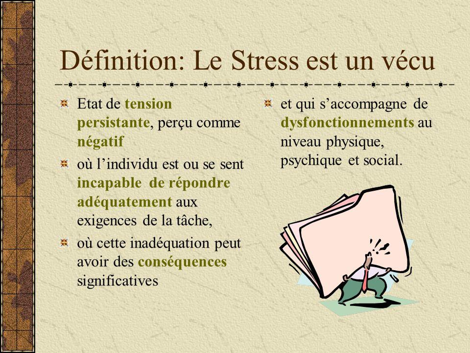 Définition: Le Stress est un vécu