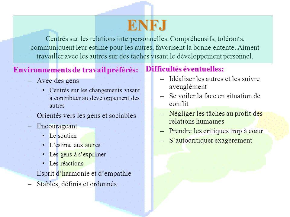 ENFJ Centrés sur les relations interpersonnelles