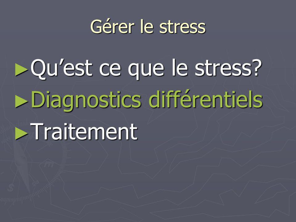 Diagnostics différentiels Traitement