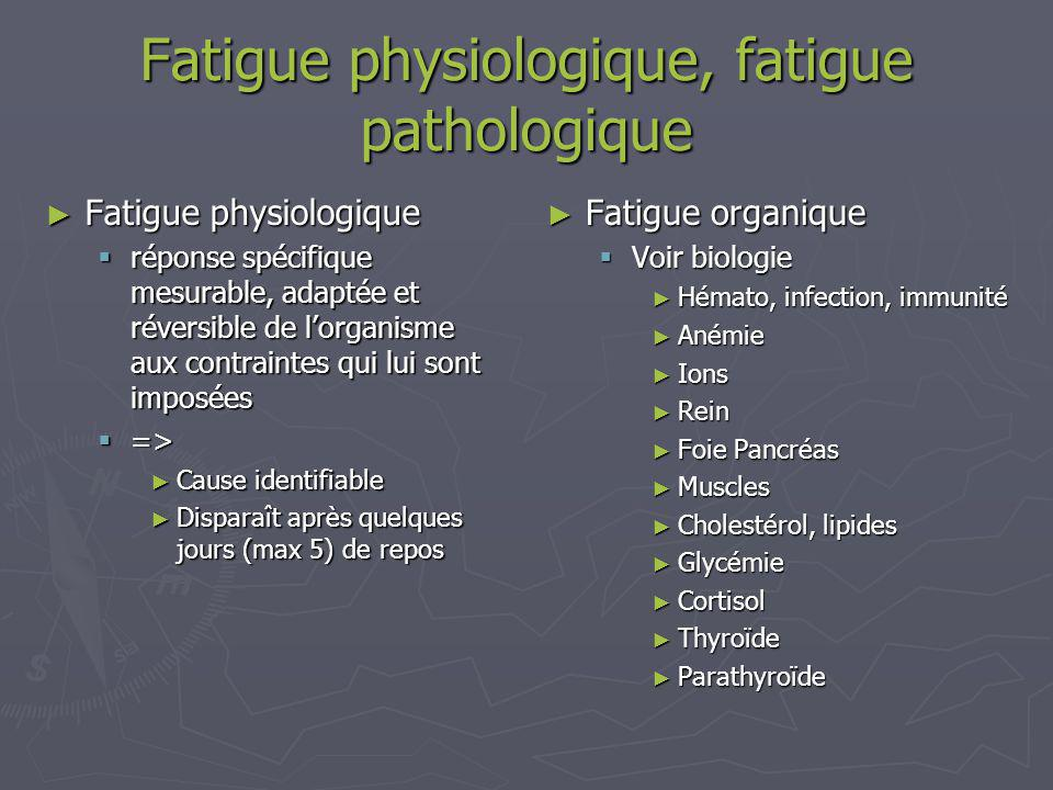 Fatigue physiologique, fatigue pathologique
