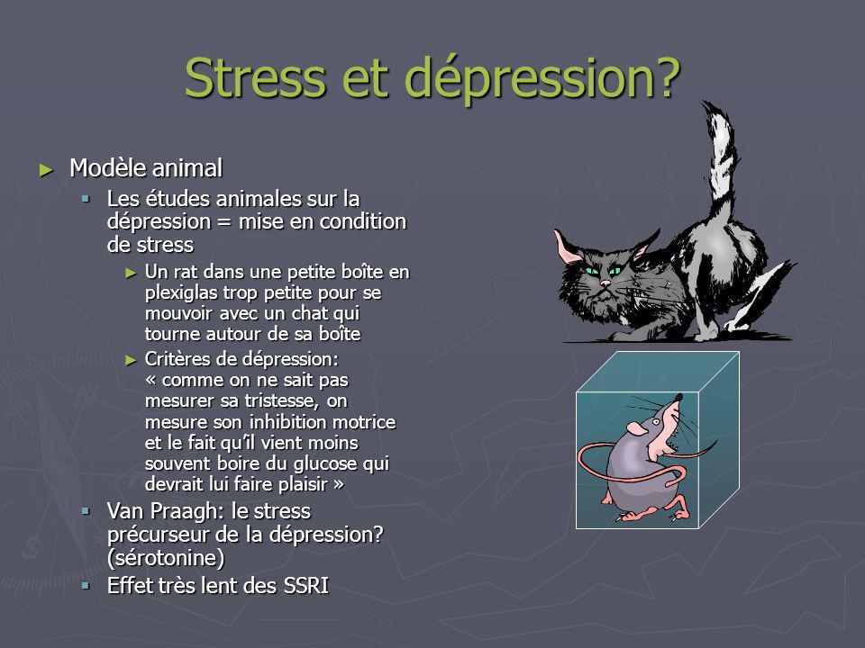 Stress et dépression Modèle animal