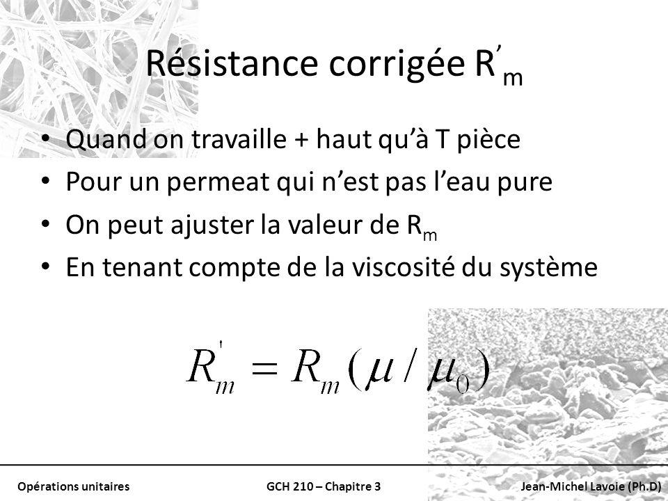 Résistance corrigée R'm