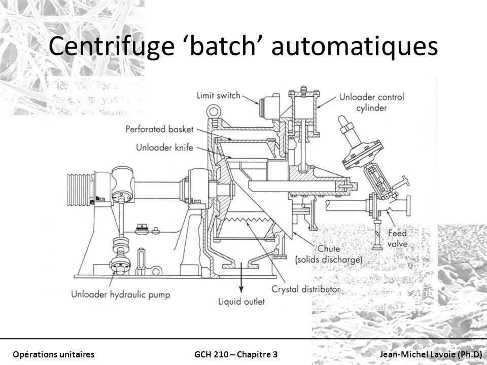 Centrifuge 'batch' automatiques