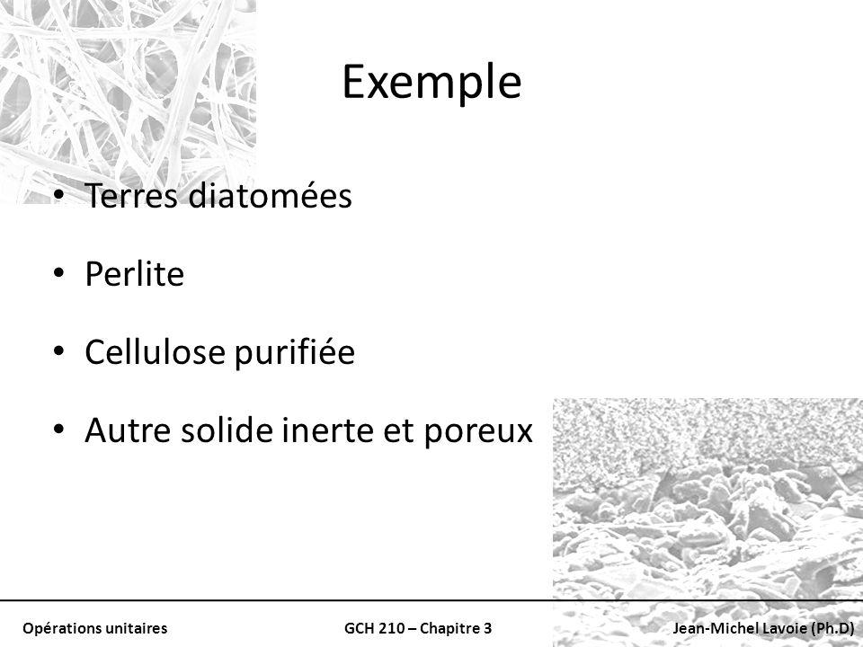Exemple Terres diatomées Perlite Cellulose purifiée