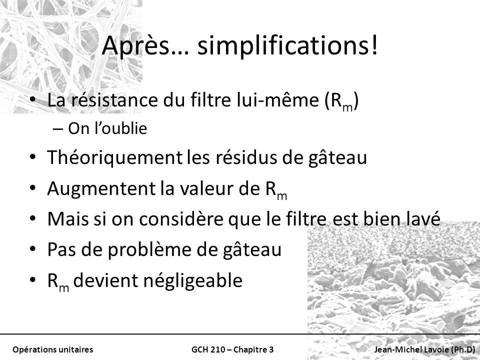 Après… simplifications!