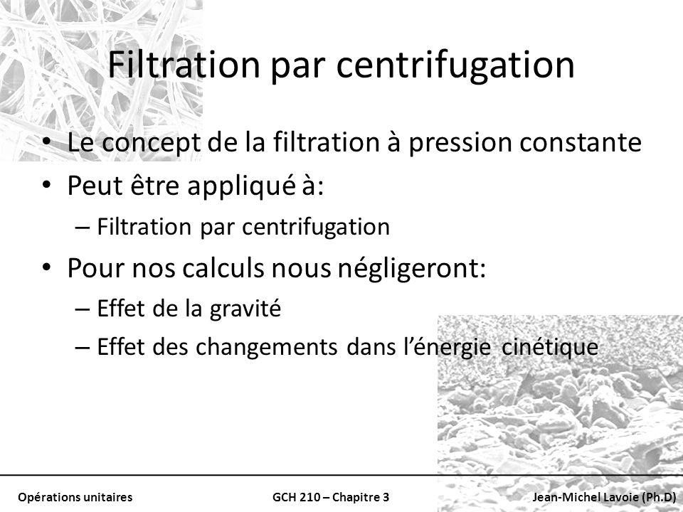 Filtration par centrifugation
