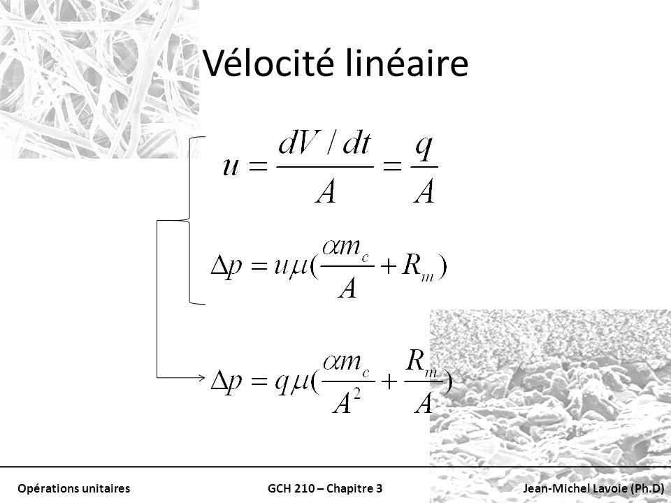 Vélocité linéaire