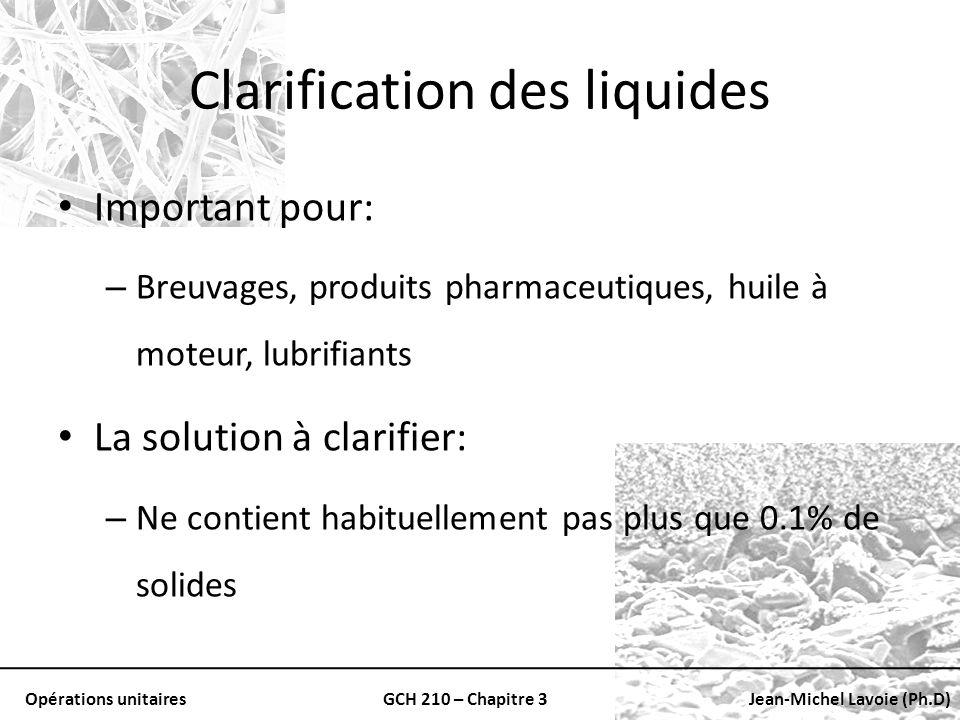 Clarification des liquides