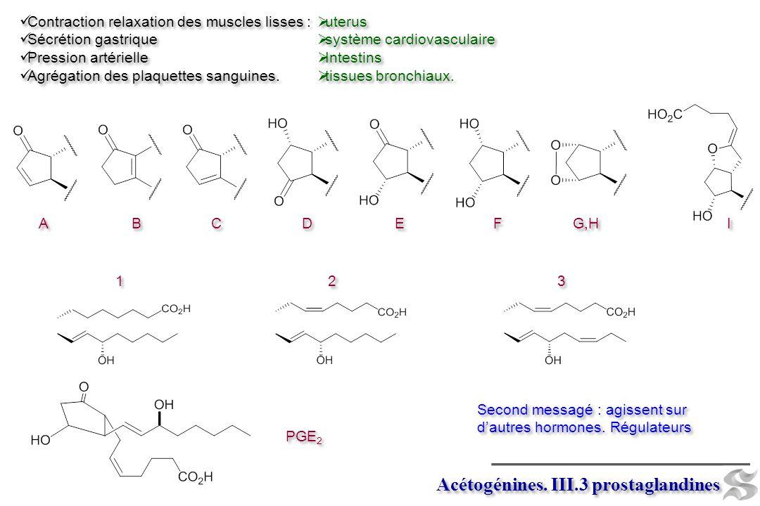 Acétogénines. III.3 prostaglandines