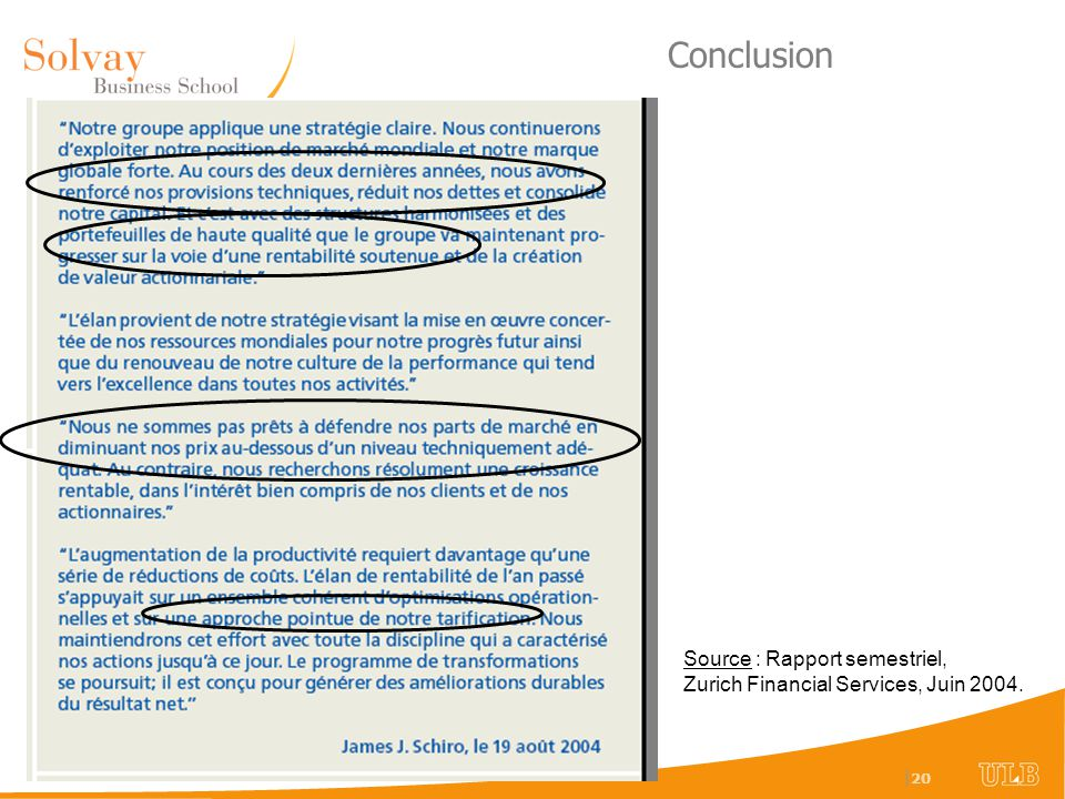 Conclusion Source : Rapport semestriel,