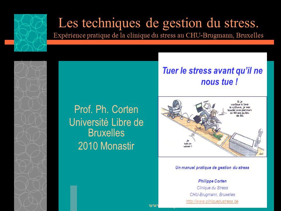 Prof. Ph. Corten Université Libre de Bruxelles 2010 Monastir