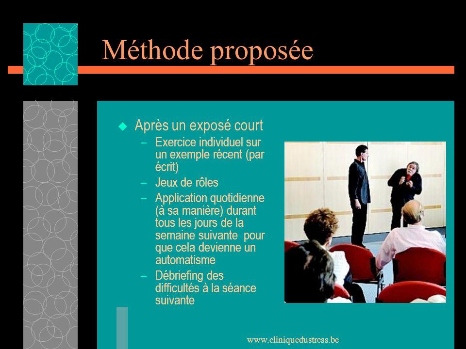 Méthode proposée Après un exposé court