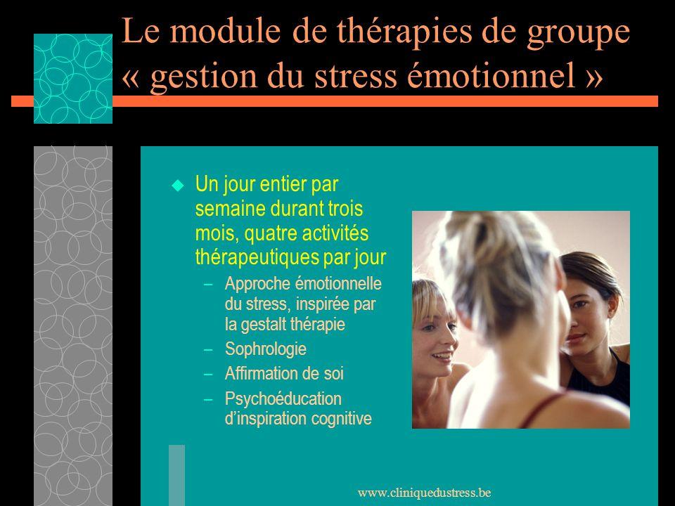 Le module de thérapies de groupe « gestion du stress émotionnel »