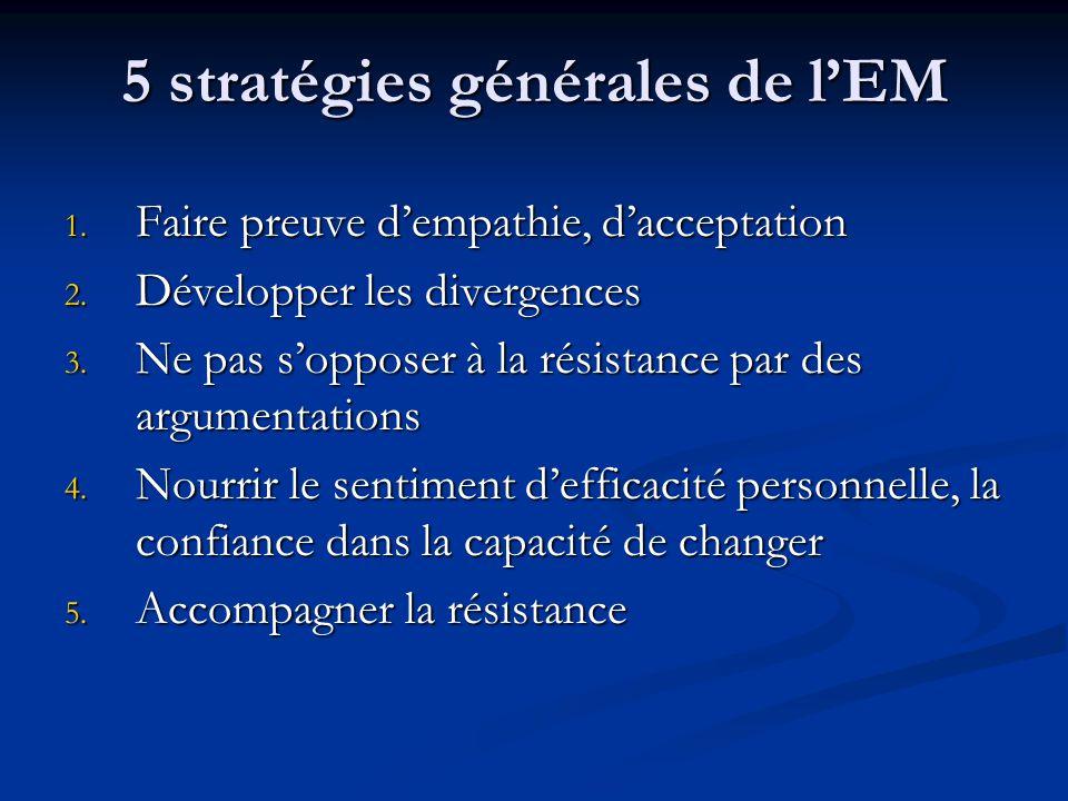 5 stratégies générales de l'EM