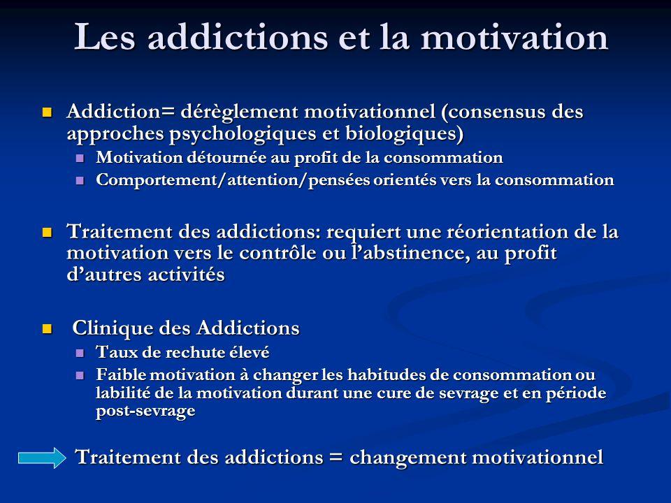 Les addictions et la motivation