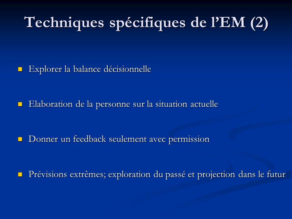 Techniques spécifiques de l'EM (2)