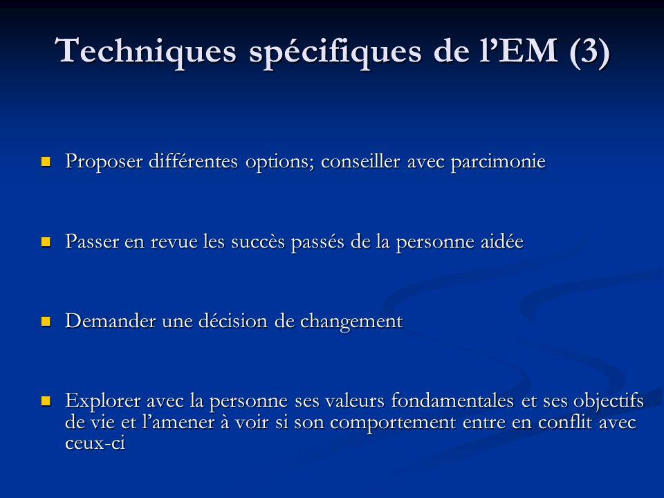Techniques spécifiques de l'EM (3)
