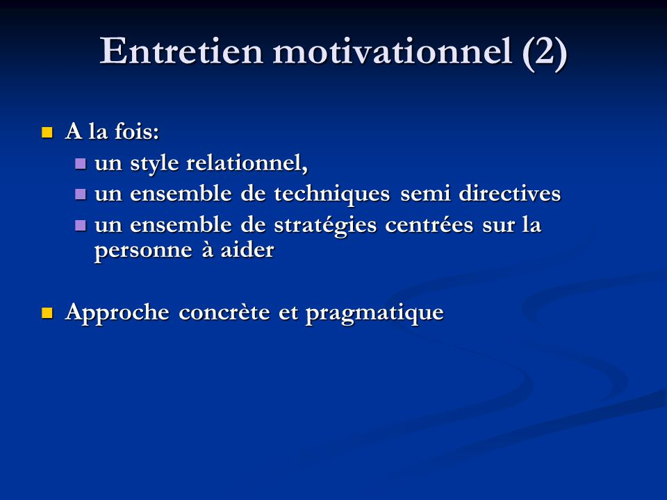 Entretien motivationnel (2)