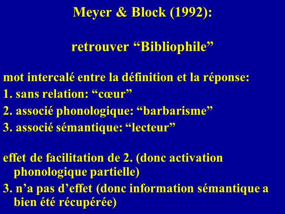 Meyer & Block (1992): retrouver Bibliophile