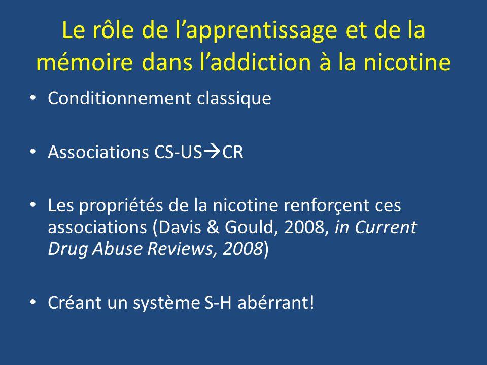 Le rôle de l'apprentissage et de la mémoire dans l'addiction à la nicotine