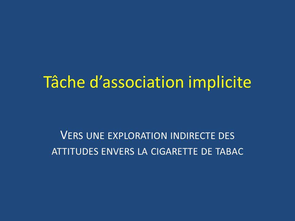 Tâche d'association implicite