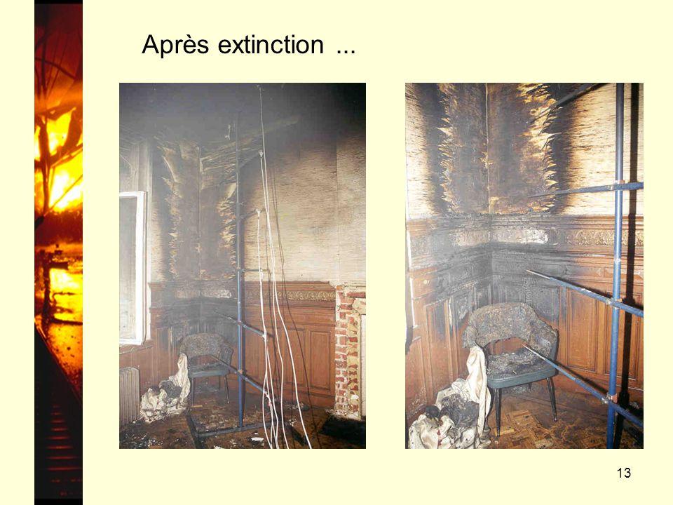 Après extinction ...