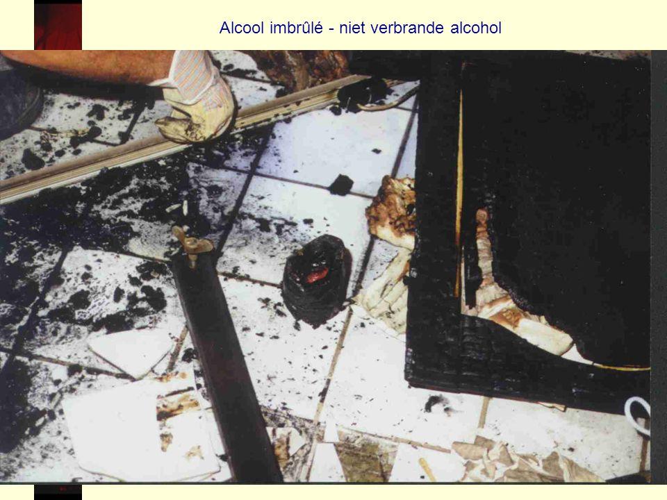 Alcool imbrûlé - niet verbrande alcohol