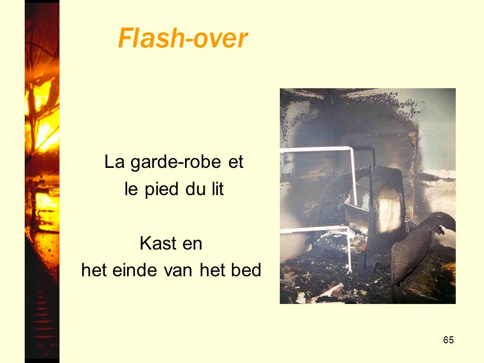 Flash-over La garde-robe et le pied du lit Kast en