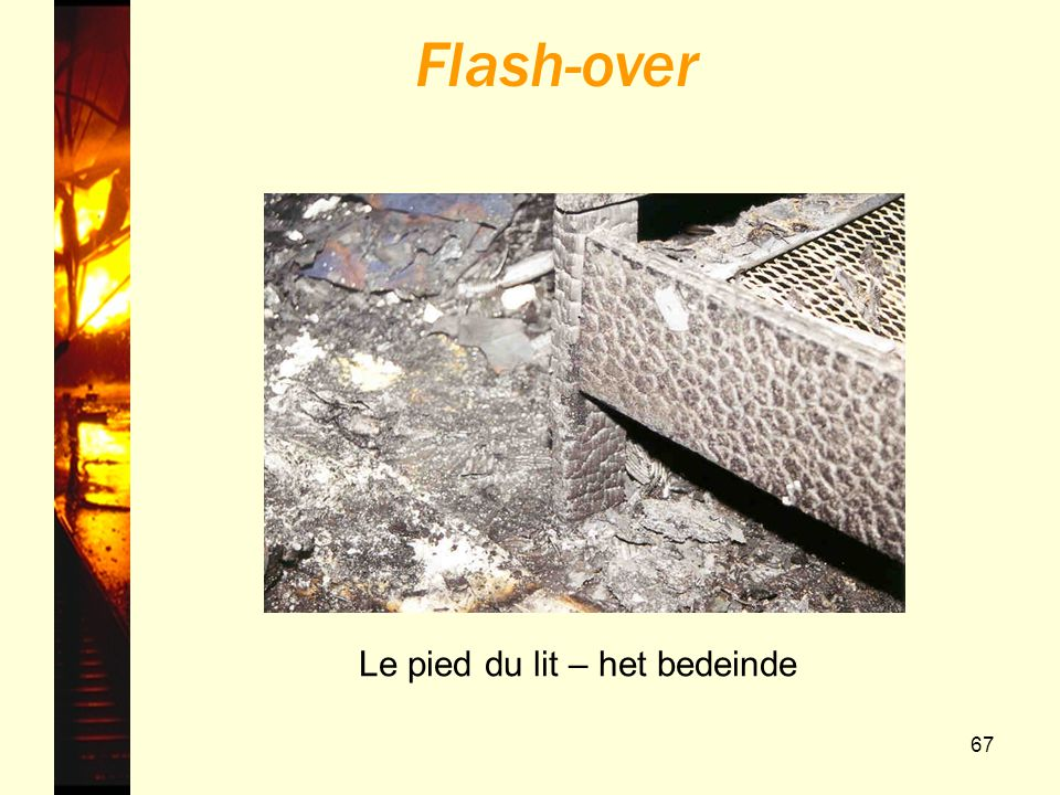Flash-over Le pied du lit – het bedeinde