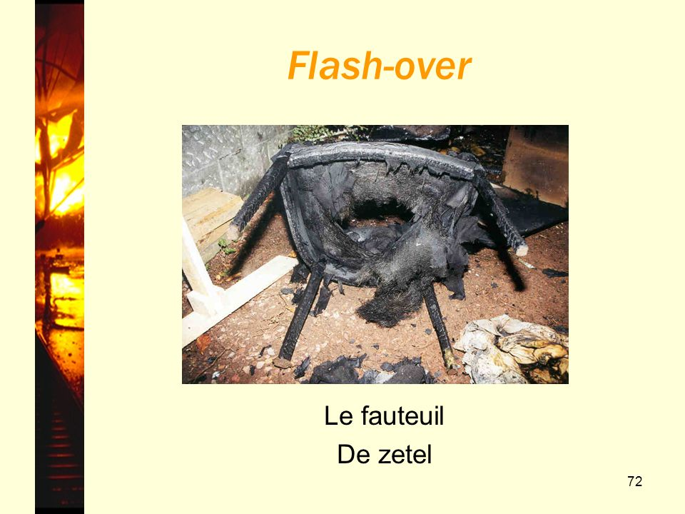 Flash-over Le fauteuil De zetel