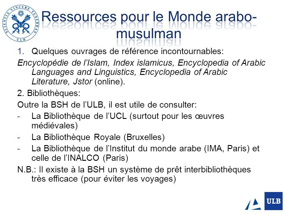 Ressources pour le Monde arabo-musulman