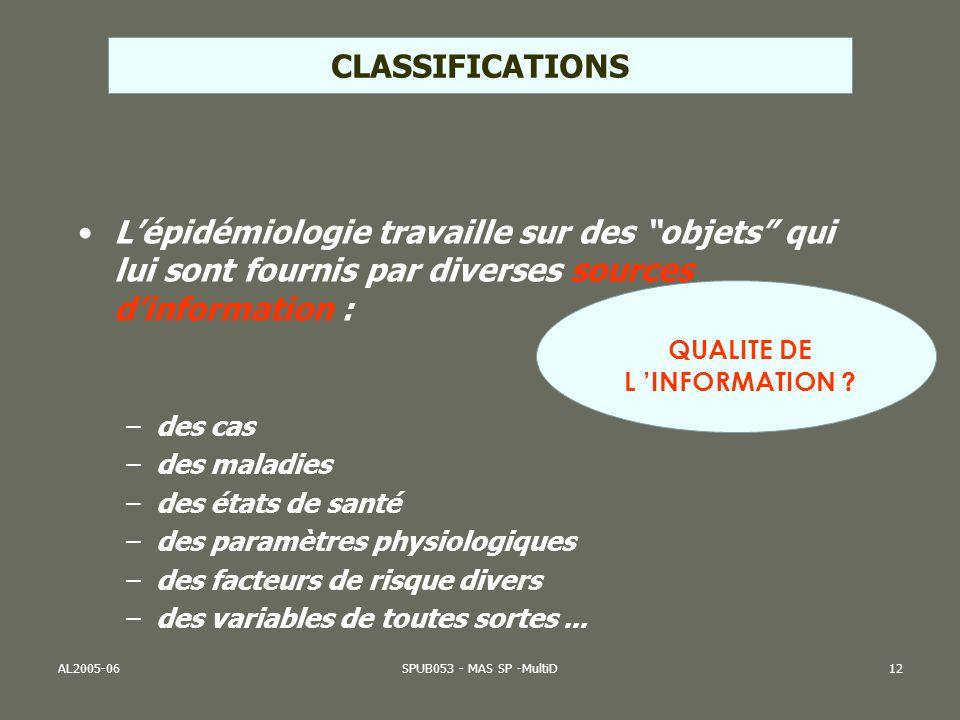 QUALITE DE L 'INFORMATION