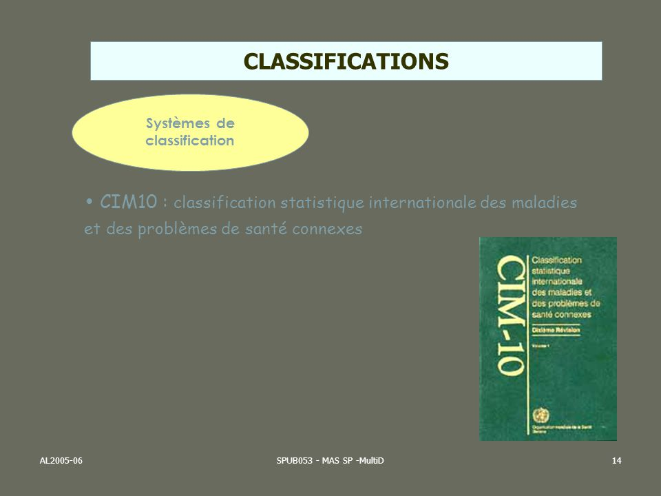 Systèmes de classification
