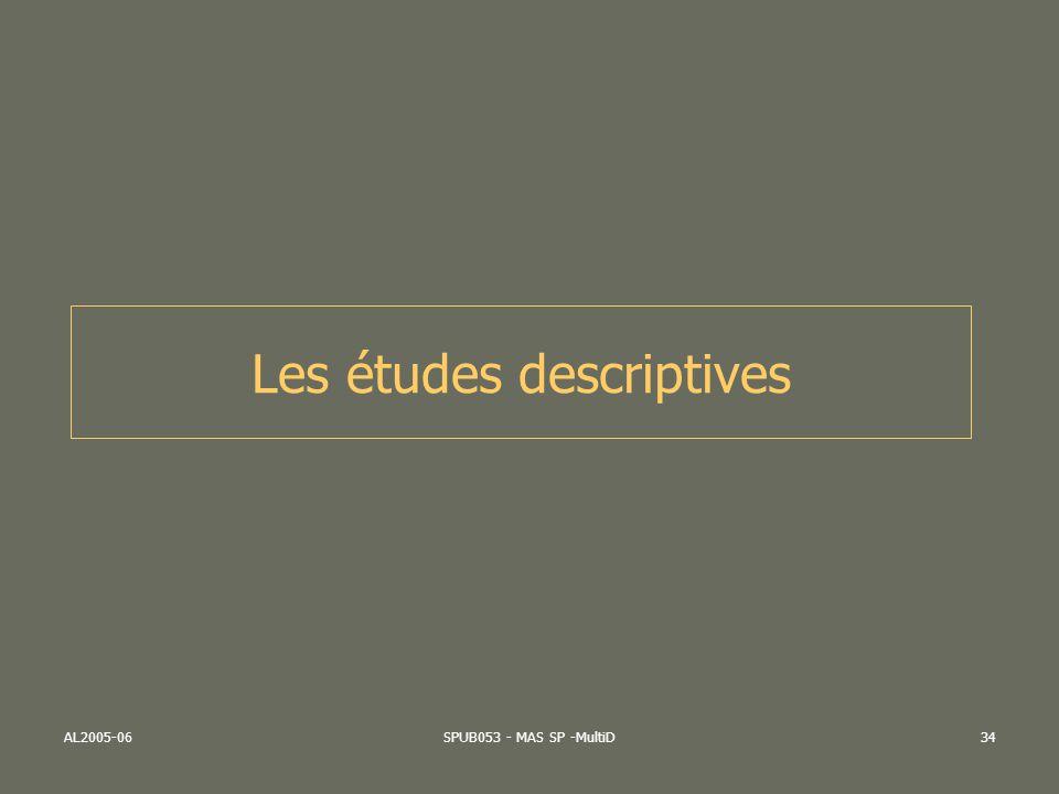 Les études descriptives