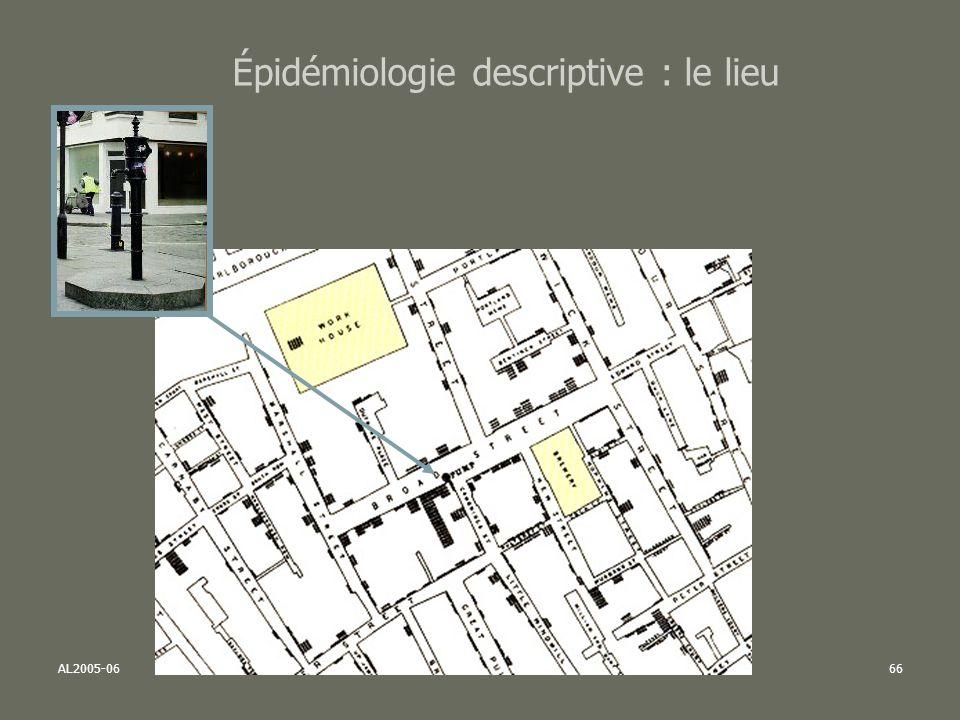 Épidémiologie descriptive : le lieu