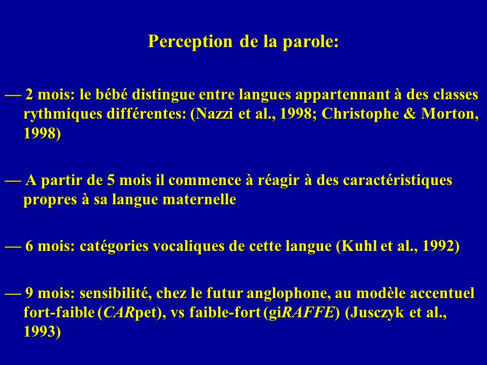Perception de la parole: