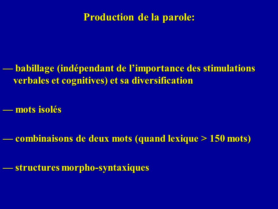 Production de la parole: