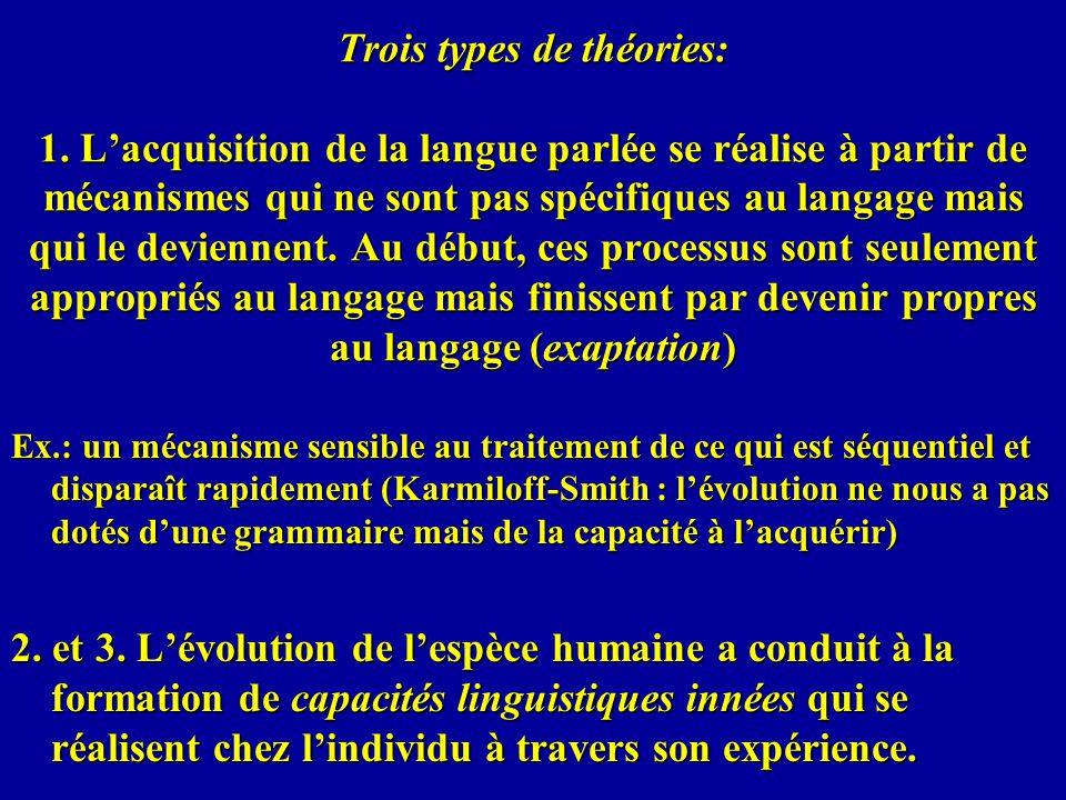 Trois types de théories: 1