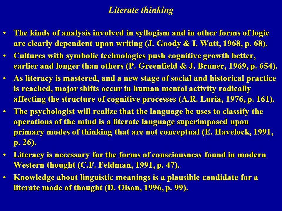 Literate thinking