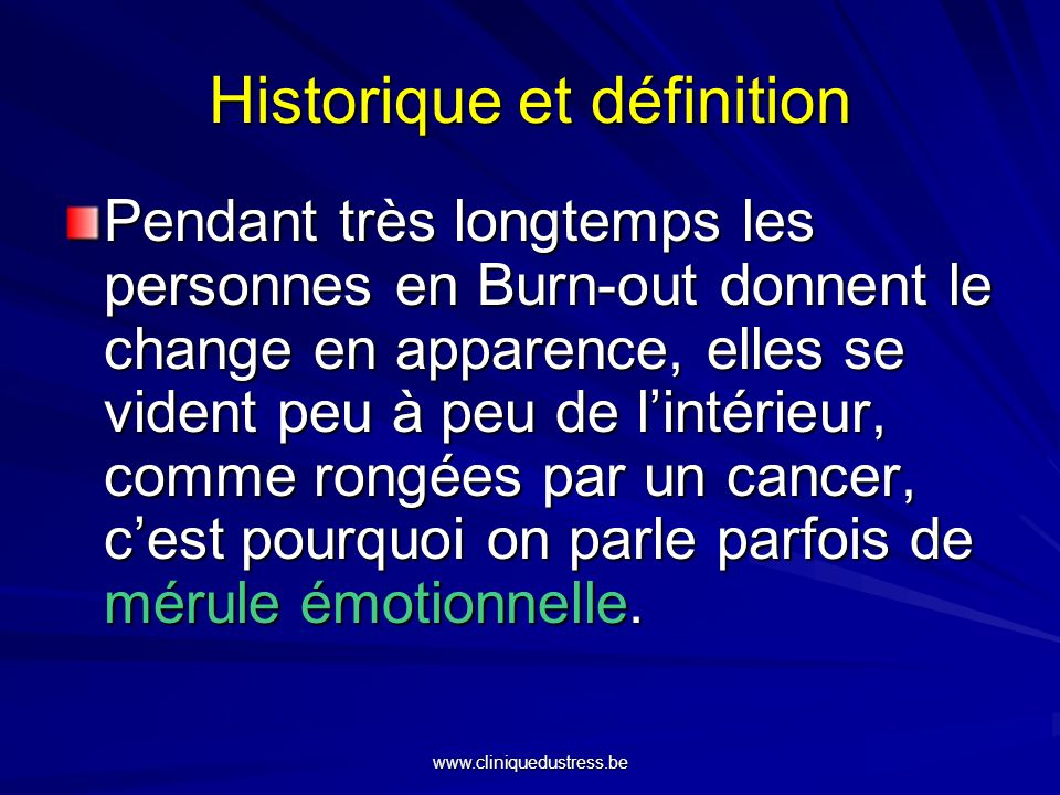 Historique et définition