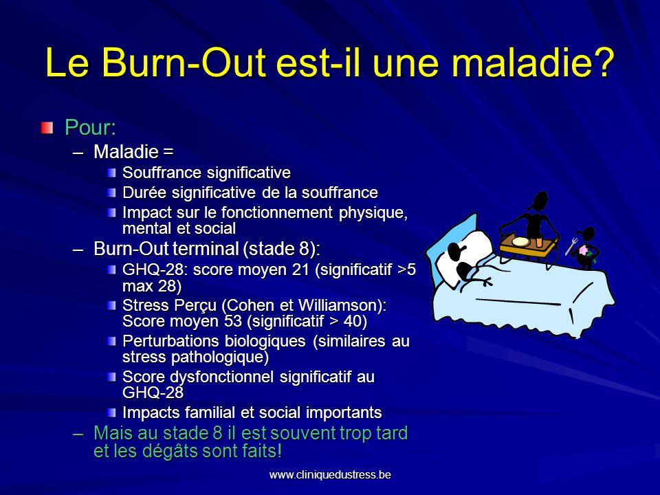 Le Burn-Out est-il une maladie