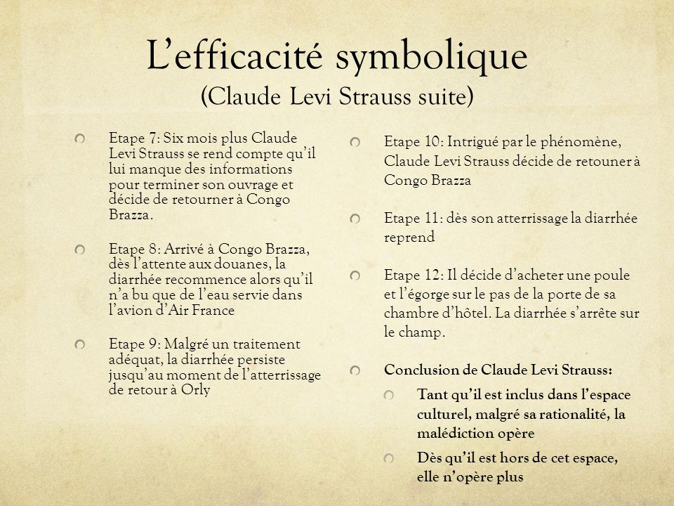 L'efficacité symbolique (Claude Levi Strauss suite)