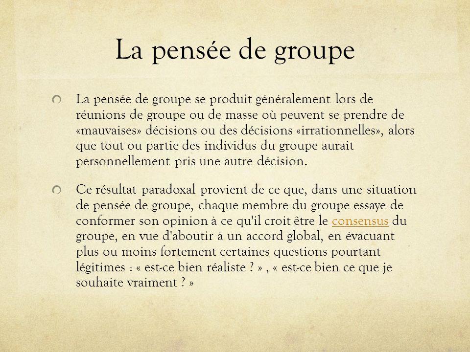 La pensée de groupe