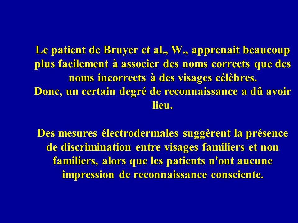 Le patient de Bruyer et al. , W