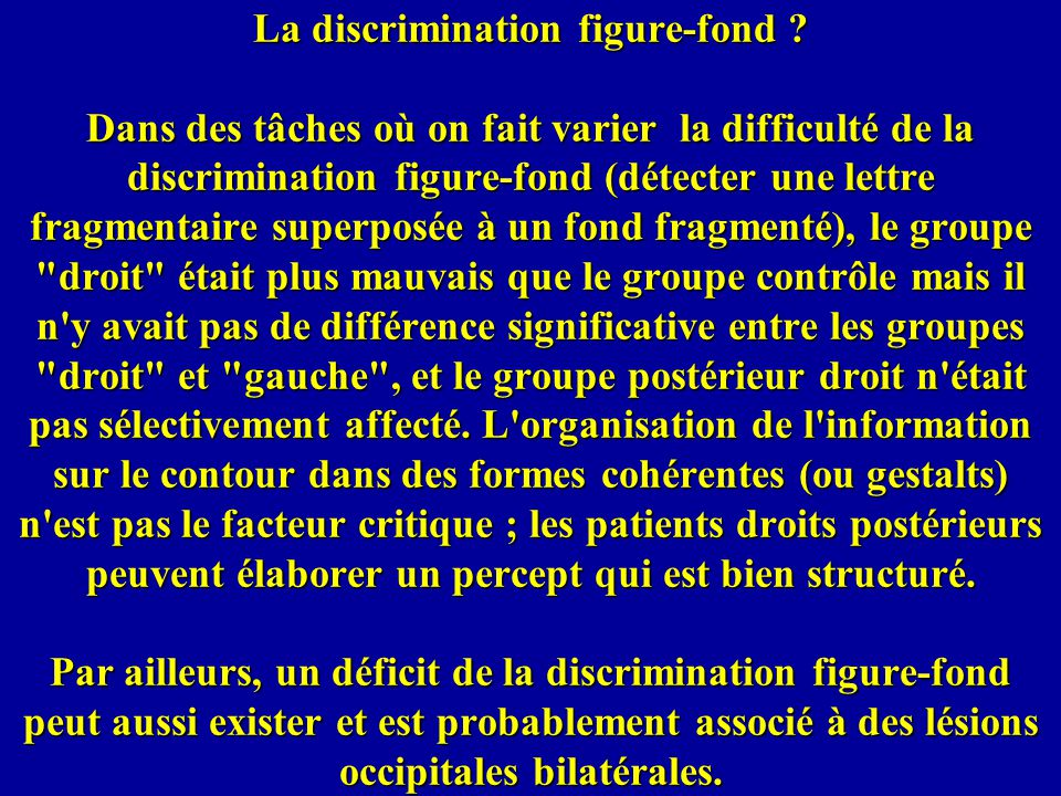 La discrimination figure-fond