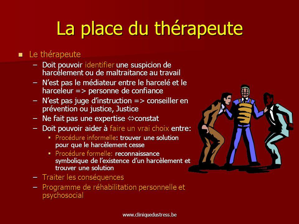 La place du thérapeute Le thérapeute